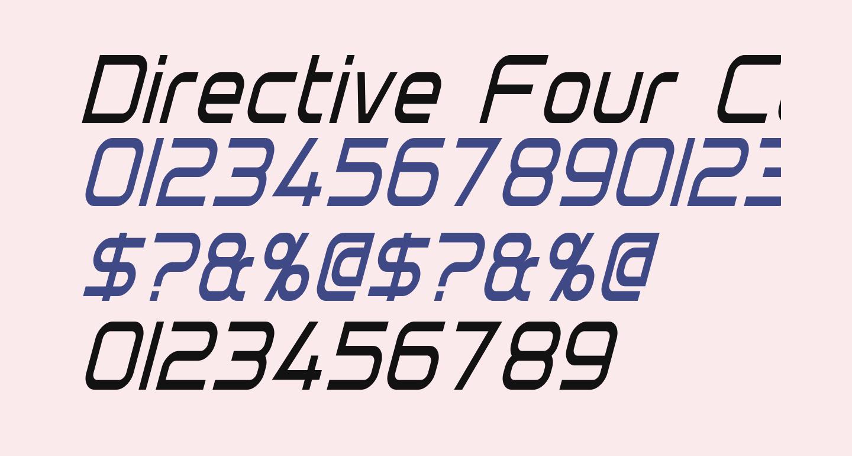 Directive Four Condensed Italic