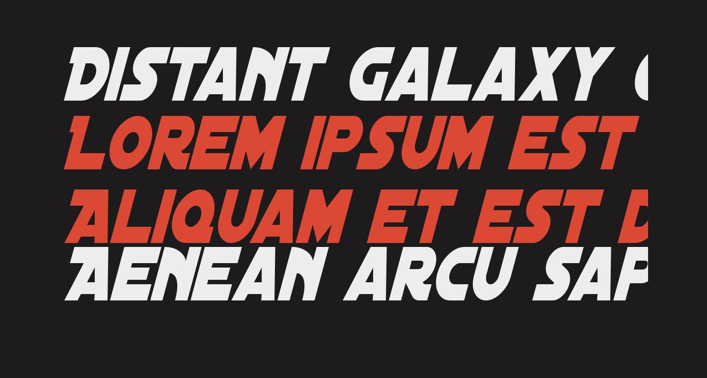 Distant Galaxy Condensed Italic
