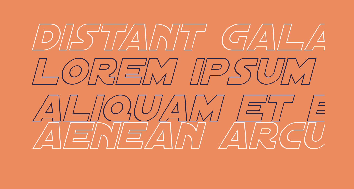 Distant Galaxy Outline Italic