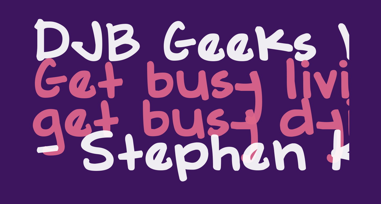 DJB Geeks Who Wear Glasses