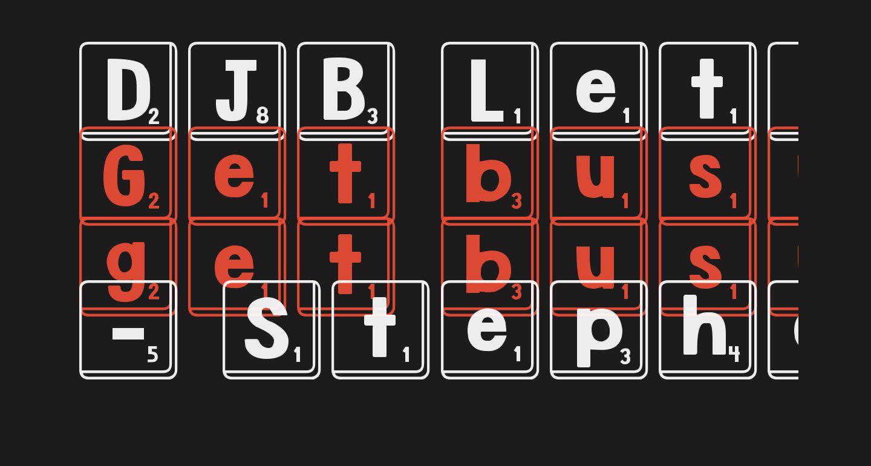 DJB Letter Game Tiles
