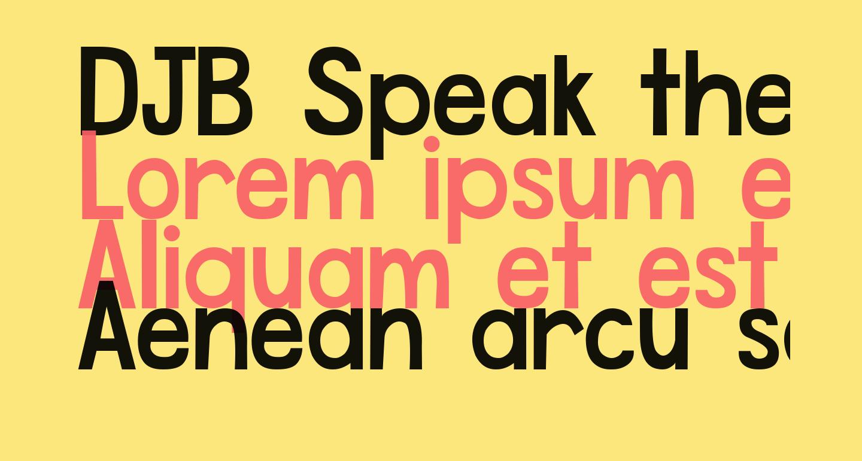 DJB Speak the Truth Bold