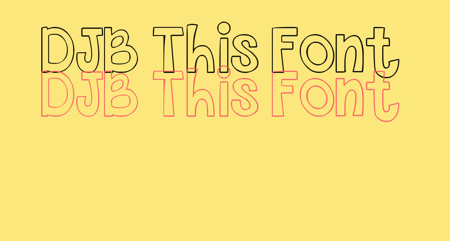 DJB This Font is Empty Bold