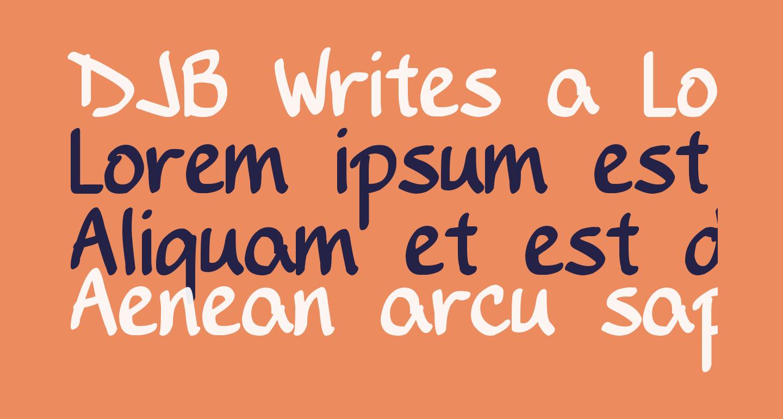 DJB Writes a Lot