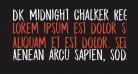 DK Midnight Chalker Regular