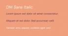 DM Sans Italic