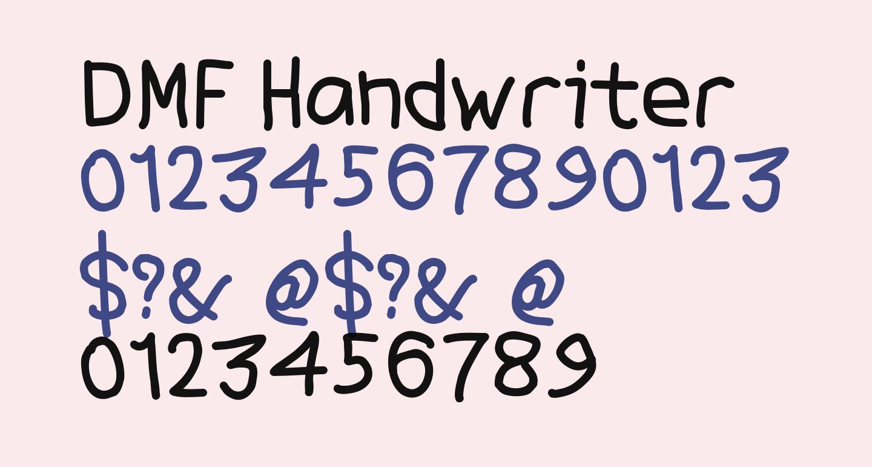 DMF Handwriter