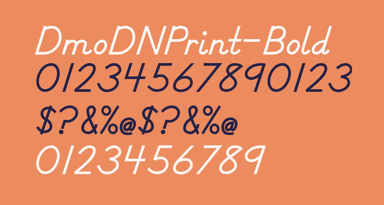 DmoDNPrint-Bold
