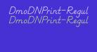 DmoDNPrint-Regular