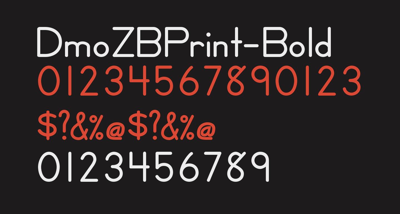 DmoZBPrint-Bold