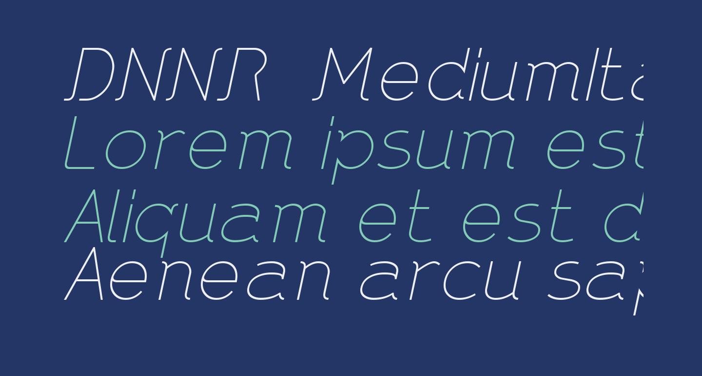 DNNR  MediumItalic