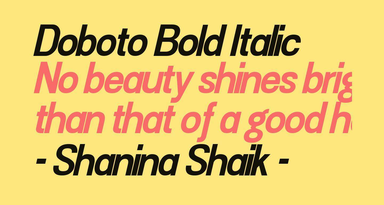 Doboto Bold Italic