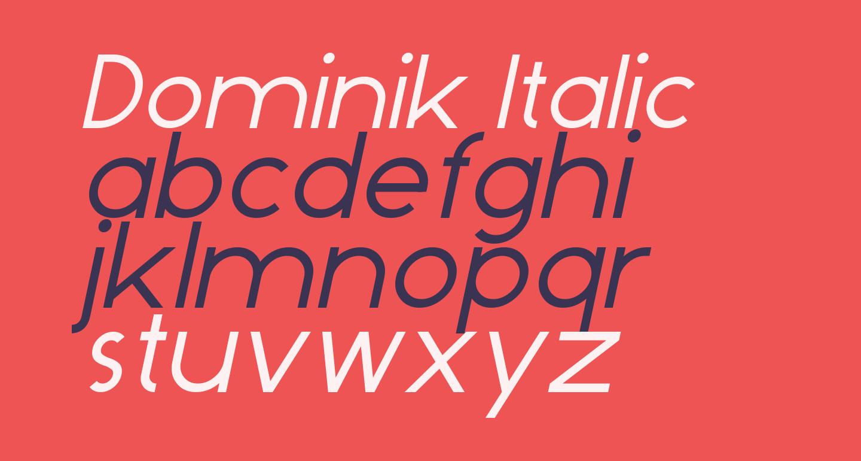 Dominik Italic