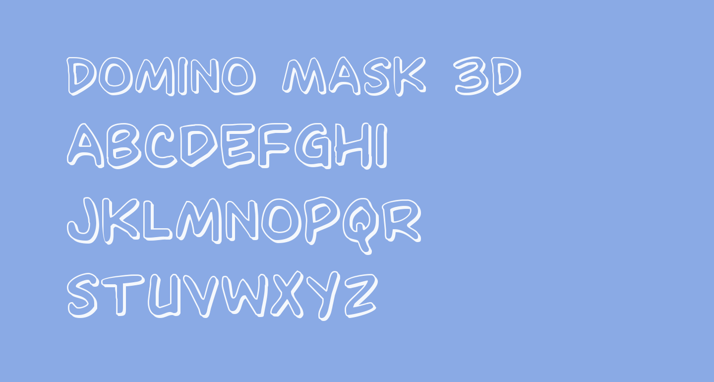 Domino Mask 3D