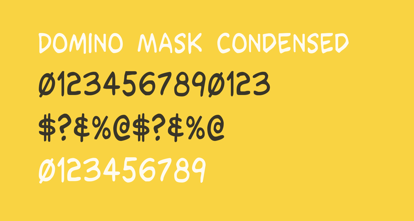 Domino Mask Condensed