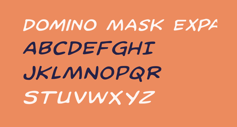Domino Mask Expanded Italic