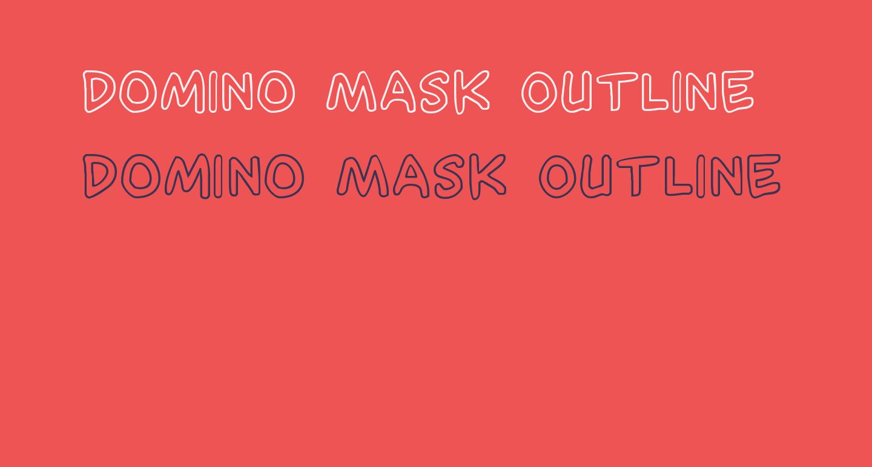Domino Mask Outline