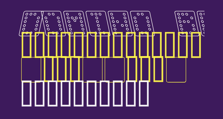 Domino bred kursiv omrids