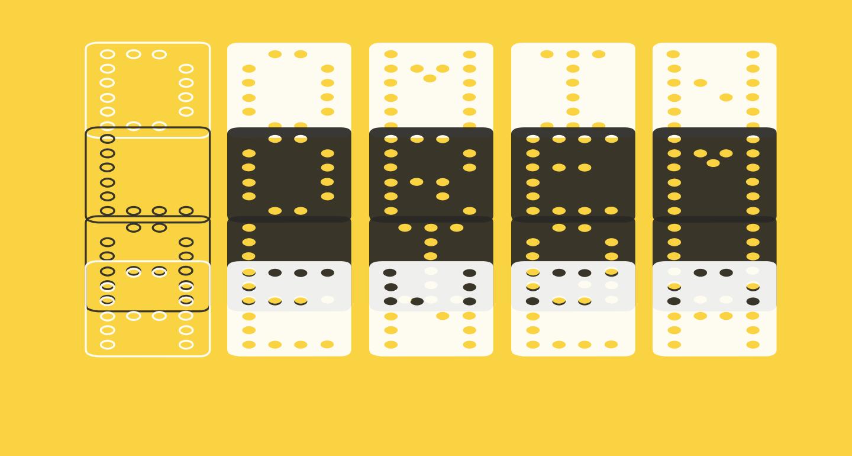 Domino flad