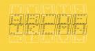 Domino flad kursiv omrids
