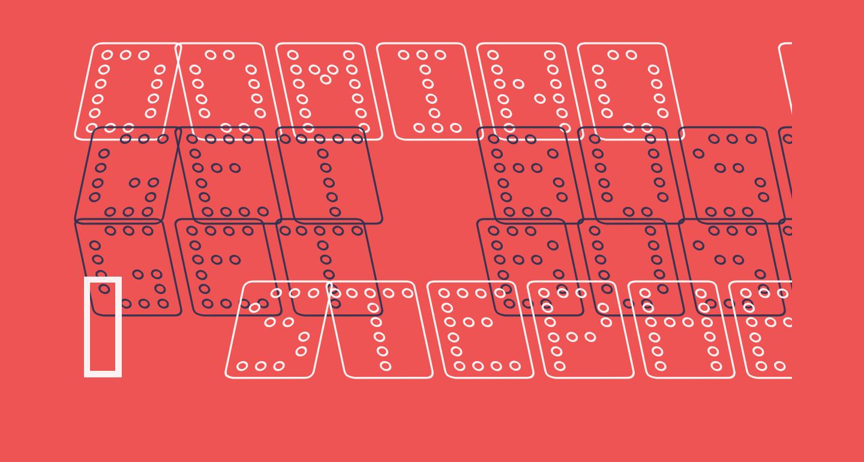 Domino square kursiv omrids