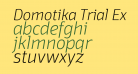Domotika Trial ExtraLight Italic