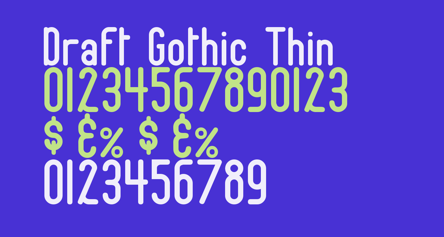 Draft Gothic Thin