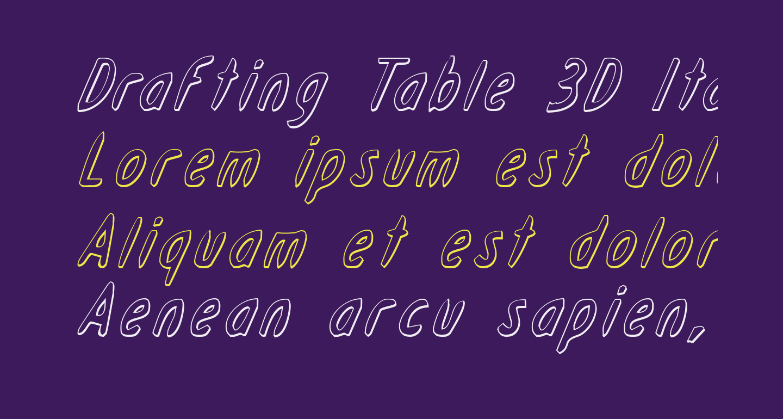 Drafting Table 3D Italic