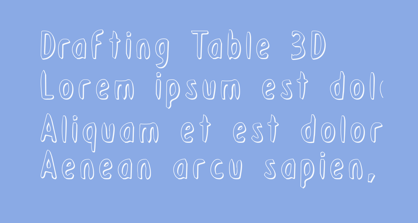 Drafting Table 3D