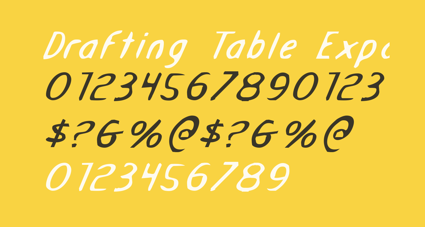 Drafting Table Expanded Italic