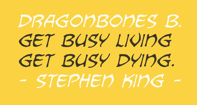 Dragonbones BB Italic
