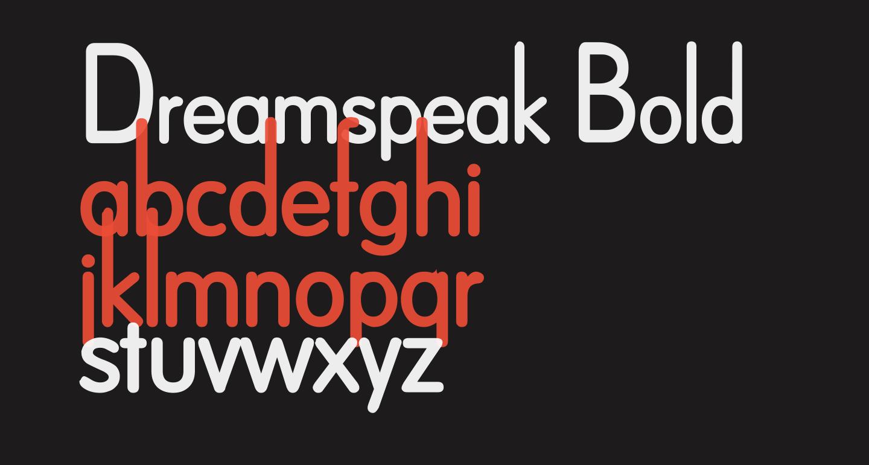 Dreamspeak Bold