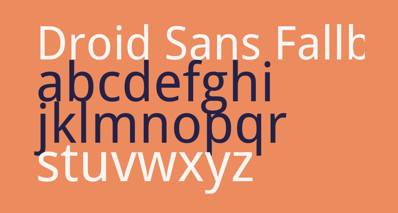 Droid Sans Fallback