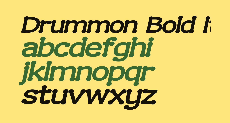 Drummon Bold Italic