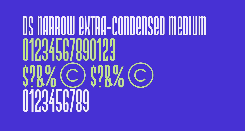 DS Narrow Extra-condensed Medium