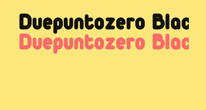 Duepuntozero Black