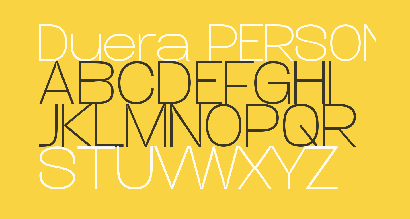 Duera PERSONAL USE Expanded Thin