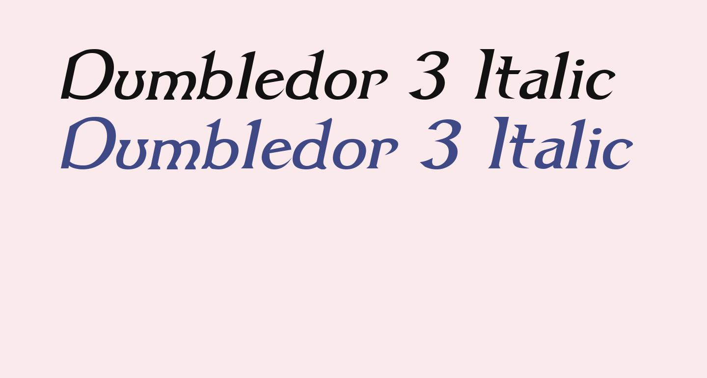 Dumbledor 3 Italic