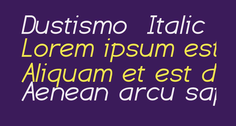 Dustismo  Italic