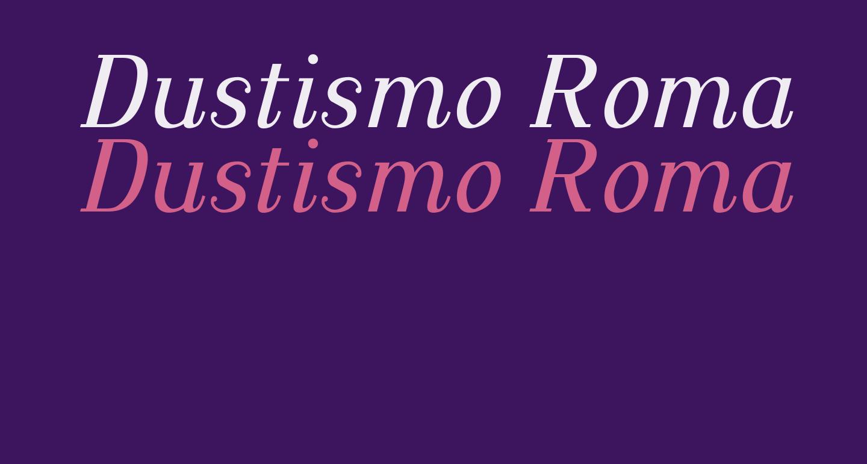 Dustismo Roman Italic