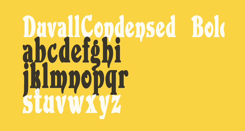 DuvallCondensed Bold