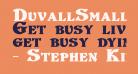 DuvallSmallCaps Bold