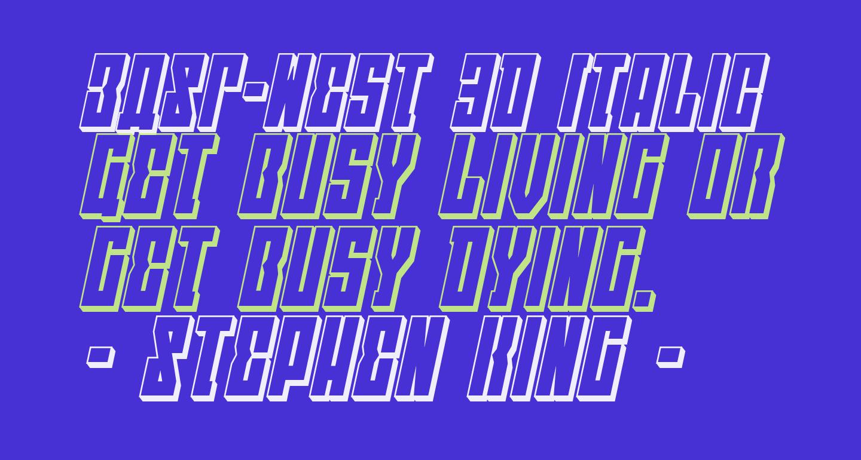EAST-west 3D Italic