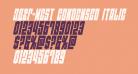 EAST-west Condensed Italic