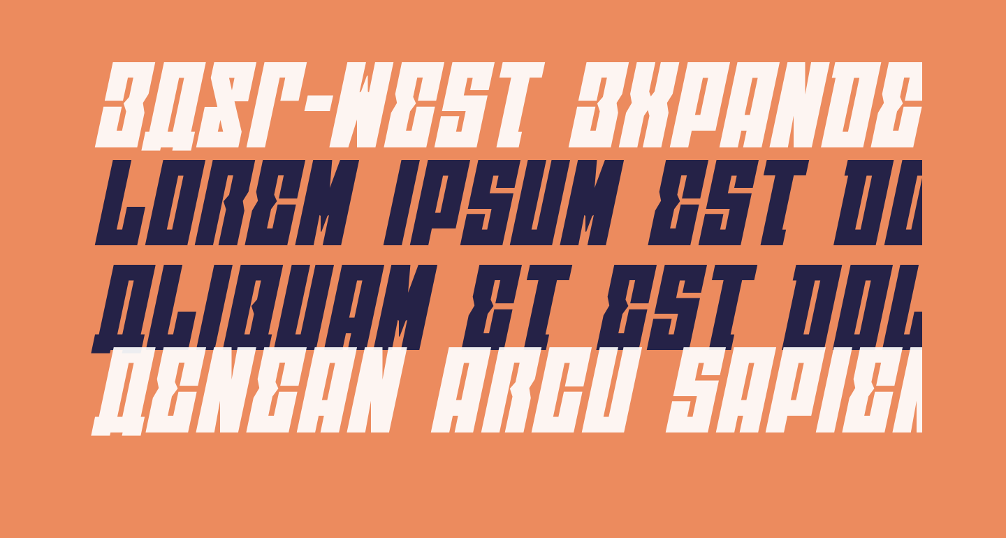 EAST-west Expanded Italic