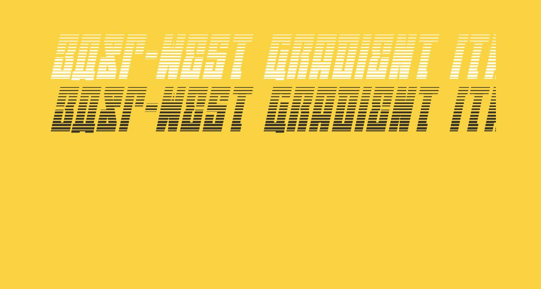 EAST-west Gradient Italic