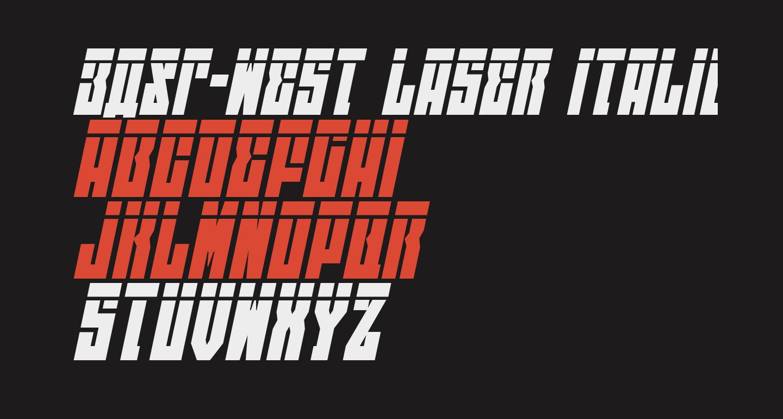 EAST-west Laser Italic