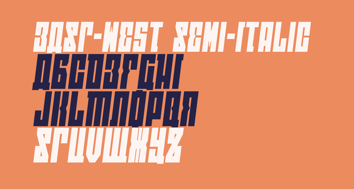 EAST-west Semi-Italic