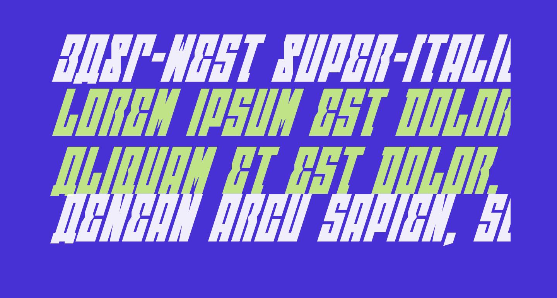 EAST-west Super-Italic