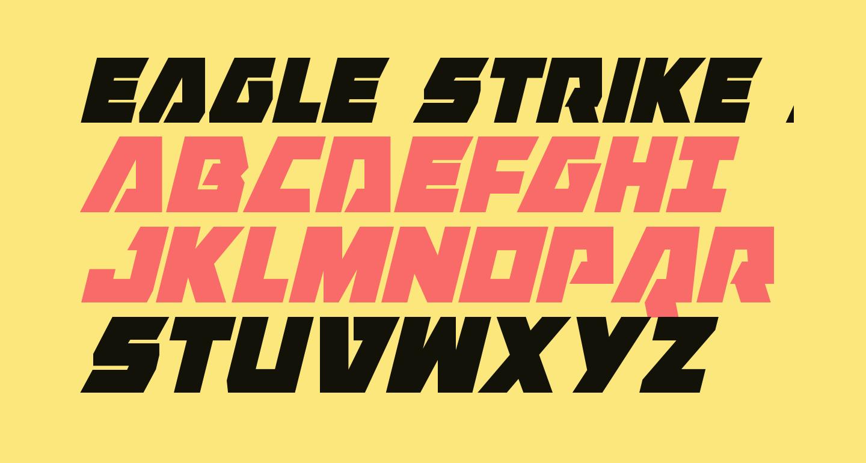 Eagle Strike Condensed Italic